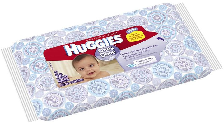 Huggies One and Done Baby Wipes Travel Pack 16ct.