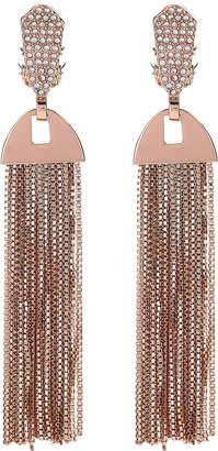 Vince Camuto Rose Gold-Tone Crystal Tassel Earrings