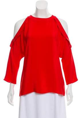 Ramy Brook Silk Cold-Shoulder Top w/ Tags