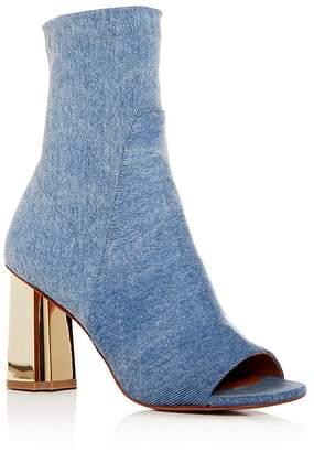 Robert Clergerie Women's Zoots Stretch Denim High Heel Booties
