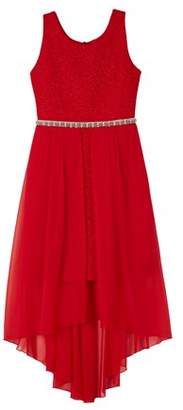 Amy Byer Sequin Mesh Fit and Flare Holiday Dress (Big Girls)