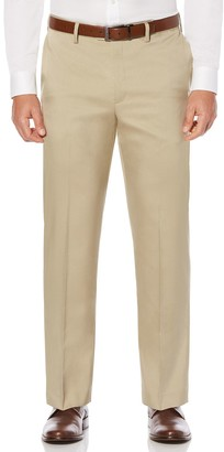 Savane Big & Tall Straight-Fit Crosshatch Stretch Dress Pants