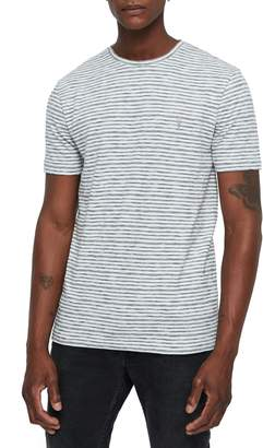 AllSaints Tonic San Slim Fit Stripe T-Shirt