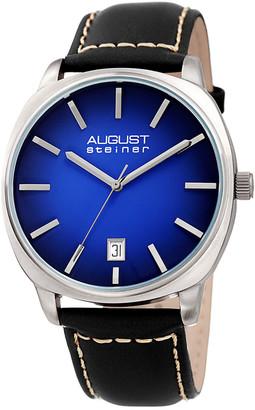 August Steiner Men's Leather Watch