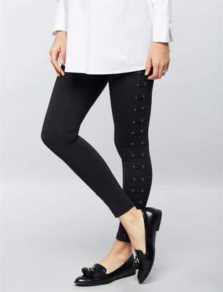 David Lerner Secret Fit Belly Lattice Maternity Leggings