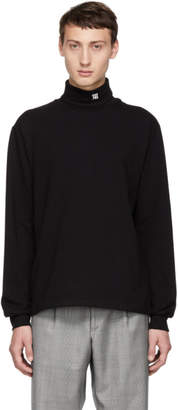 Misbhv Black Monogram Turtleneck Sweater