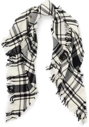 Ralph Lauren Plaid Wool Triangle Scarf