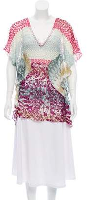 Missoni Mare Patterned Open Knit Tunic