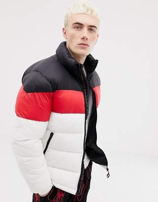 Pull&Bear puffer jacket in white