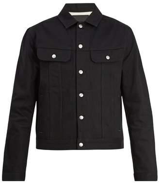 Acne Studios Patch Pocket Denim Jacket - Mens - Black