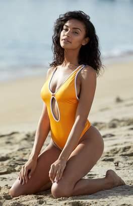 LA Hearts Keyhole One Piece Swimsuit