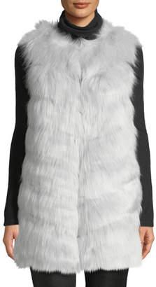 KENDALL + KYLIE Grooved Faux-Fur Vest