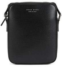 BOSS Hugo Signature Collection cross-body bag in structured Italian leather One Size Black