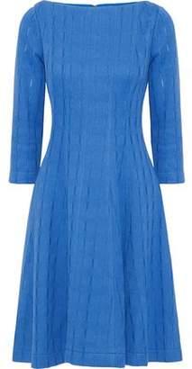 Lela Rose Flared Jacquard-knit Cotton-blend Dress
