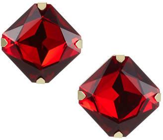 Stella & Ruby Square Gem Stud Earrings, Red