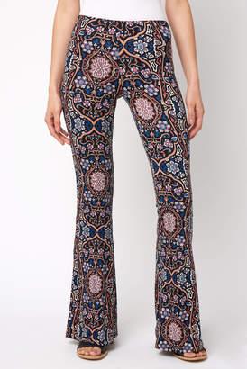 Juniper Blu Black Tapestry Fit & Flare Pant