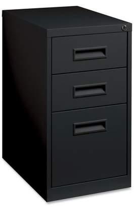 Lorell 3 Drawers Vertical Steel Lockable Filing Cabinet, Black