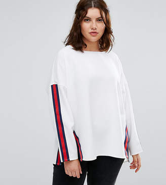 Alice & You Step Hem Sweater With Moto Trim