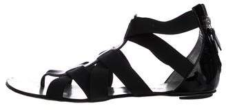 Casadei Patent Leather Caged Sandals