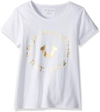 True Religion Big Girls' Fashion Short Sleeve Tee Shirt