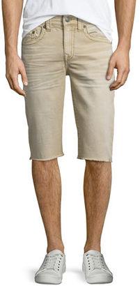 True Religion Geno Overdye Active Slim-Fit Denim Shorts $159 thestylecure.com