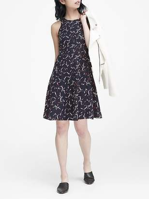 Banana Republic Floral Paneled Fit-and-Flare Dress