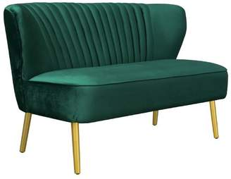 Darcy And Duke Coco Velvet Two Seater Sofa Ivy Green
