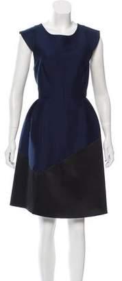 Halston Knee-Length Cap Sleeve Dress