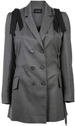 Simone Rocha bow shoulder mid-length blazer