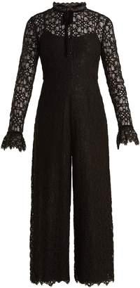 Temperley London Eclipse floral-lace jumpsuit