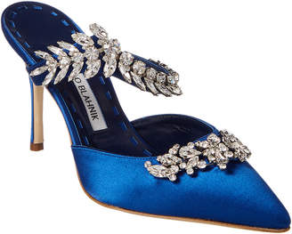 Manolo Blahnik Lurum 90 Satin Pump