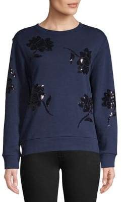 Lord & Taylor Sequin-Embellished Cotton Sweatshirt