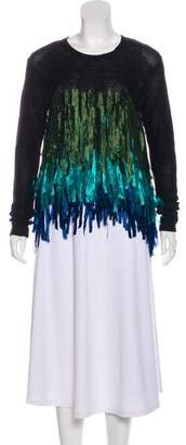 Dries Van Noten Netty Fringe-Trimmed Sweater