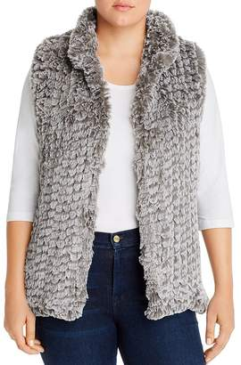 AQUA Curve Faux-Fur Vest - 100% Exclusive