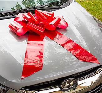 HONGJUYUAN Big Red Car Gift Wrapping Large Bow Easy Pull Bow(Perfect Shape Guaranteed)