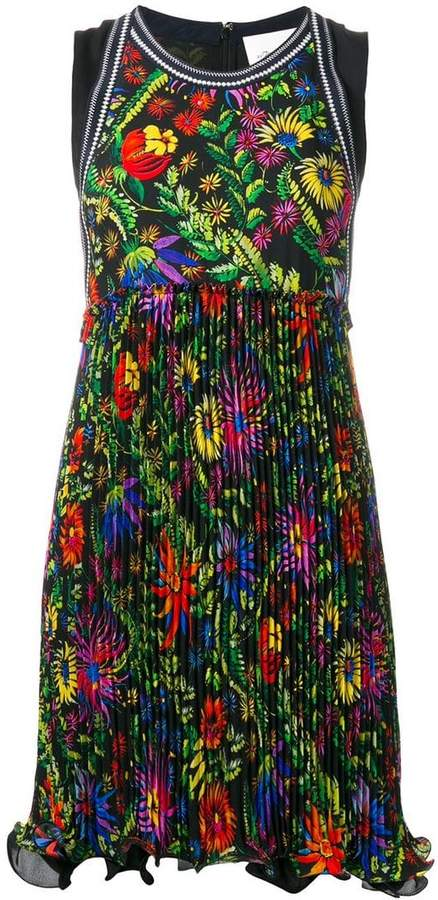 3.1 Phillip Lim floral pleated detail dress