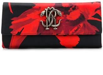 Roberto Cavalli Mirror Snake clutch bag