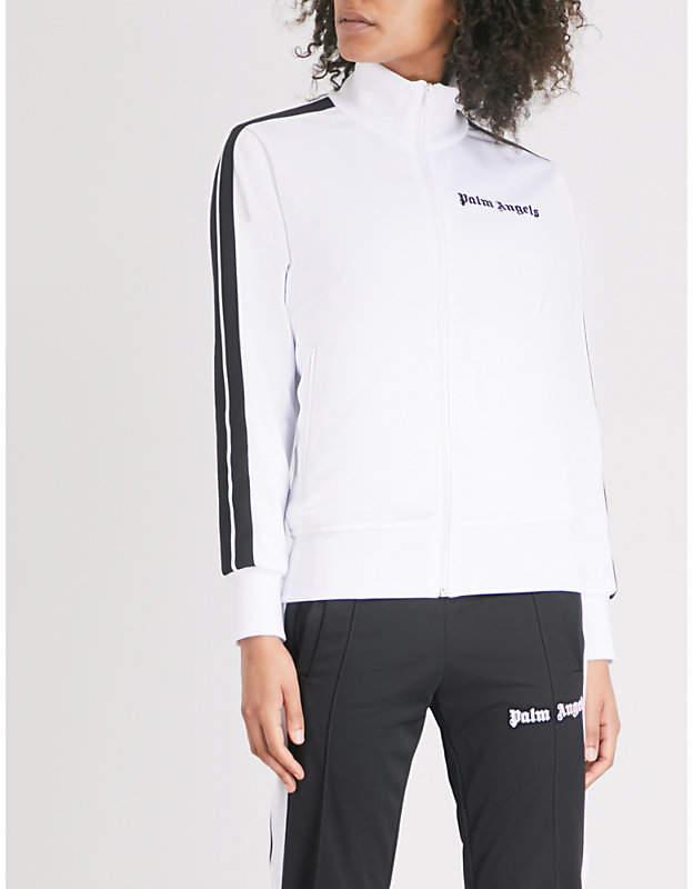 Side-stripe jersey jacket