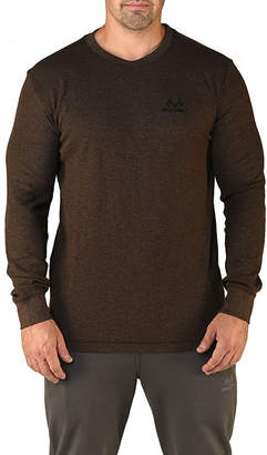 Realtree Mens Crew Neck Long Sleeve Thermal Top