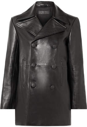 Rag & Bone Nella Double-breasted Leather Coat - Black