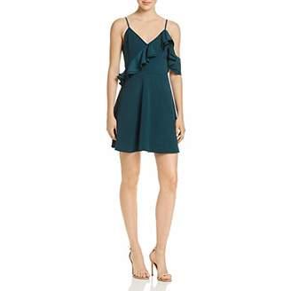J.o.a. Women's Double Asymmetrical Ruffle Fit& Flare Dress