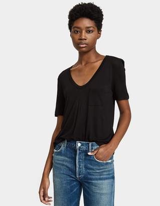 Alexander Wang Classic Cropped Tee in Black