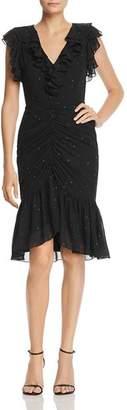 WAYF Daphnie Dot Ruffle Dress
