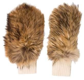 Moncler Fur & Lambskin Mittens Beige Fur & Lambskin Mittens