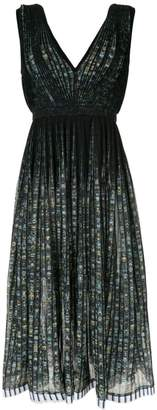 No.21 printed pleated midi dress