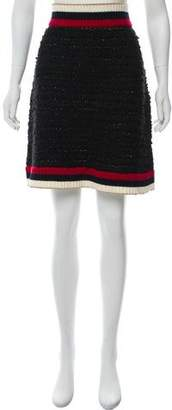 Gucci Web-Knit Knee-Length Skirt w/ Tags