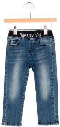 Armani JuniorArmani Junior Boys' Logo Five Pocket Jeans