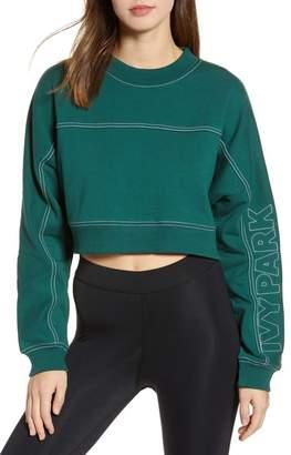 Ivy Park Stab Stitch Logo Crop Sweatshirt