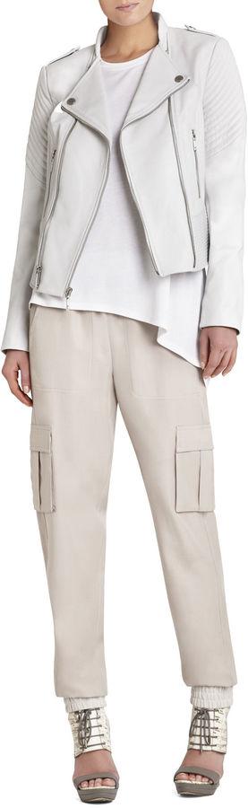 BCBGMAXAZRIA Jennifer Asymmetrical Zipper Jacket