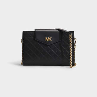 MICHAEL Michael Kors Large Convertible Clutch In Black Leather